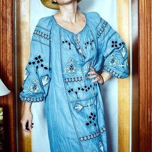 Zara Embroidered Boho Dress